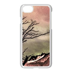 Fantasy Landscape Illustration Apple Iphone 7 Seamless Case (white) by dflcprints