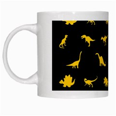 Dinosaurs Pattern White Mugs by ValentinaDesign