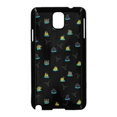 Cactus Pattern Samsung Galaxy Note 3 Neo Hardshell Case (black) by ValentinaDesign