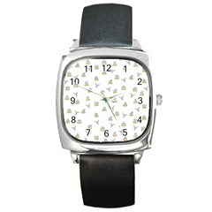 Cactus Pattern Square Metal Watch by ValentinaDesign