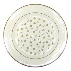 Cactus Pattern Porcelain Plates by ValentinaDesign