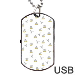 Cactus Pattern Dog Tag Usb Flash (two Sides) by ValentinaDesign