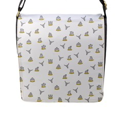 Cactus Pattern Flap Messenger Bag (l)  by ValentinaDesign