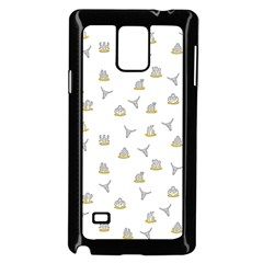 Cactus Pattern Samsung Galaxy Note 4 Case (black) by ValentinaDesign