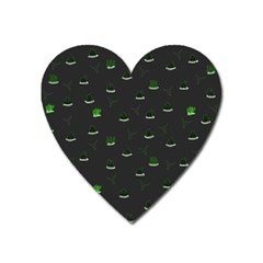 Cactus Pattern Heart Magnet by ValentinaDesign