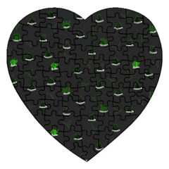Cactus Pattern Jigsaw Puzzle (heart) by ValentinaDesign