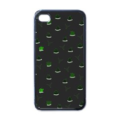 Cactus Pattern Apple Iphone 4 Case (black) by ValentinaDesign