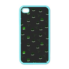 Cactus Pattern Apple Iphone 4 Case (color) by ValentinaDesign