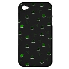 Cactus Pattern Apple Iphone 4/4s Hardshell Case (pc+silicone) by ValentinaDesign