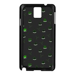 Cactus Pattern Samsung Galaxy Note 3 N9005 Case (black) by ValentinaDesign