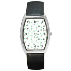 Cactus pattern Barrel Style Metal Watch by ValentinaDesign