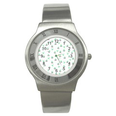 Cactus Pattern Stainless Steel Watch by ValentinaDesign