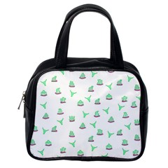 Cactus Pattern Classic Handbags (one Side) by ValentinaDesign