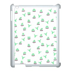Cactus Pattern Apple Ipad 3/4 Case (white) by ValentinaDesign