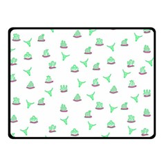 Cactus Pattern Double Sided Fleece Blanket (small)  by ValentinaDesign