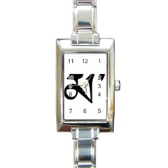 Thimphu  Rectangle Italian Charm Watch by abbeyz71