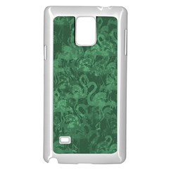 Flamingo Pattern Samsung Galaxy Note 4 Case (white) by ValentinaDesign