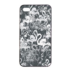 Flamingo Pattern Apple Iphone 4/4s Seamless Case (black) by ValentinaDesign