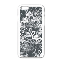 Flamingo Pattern Apple Iphone 6/6s White Enamel Case by ValentinaDesign