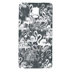 Flamingo Pattern Galaxy Note 4 Back Case by ValentinaDesign