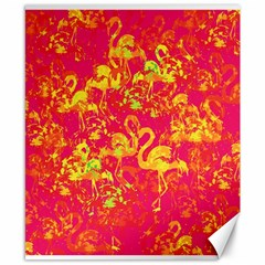 Flamingo Pattern Canvas 8  X 10  by ValentinaDesign
