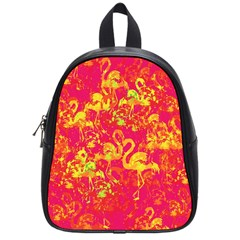 Flamingo Pattern School Bags (small)  by ValentinaDesign