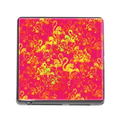 Flamingo Pattern Memory Card Reader (square) by ValentinaDesign