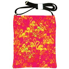 Flamingo Pattern Shoulder Sling Bags by ValentinaDesign