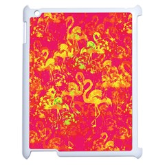 Flamingo Pattern Apple Ipad 2 Case (white) by ValentinaDesign