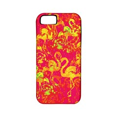 Flamingo Pattern Apple Iphone 5 Classic Hardshell Case (pc+silicone) by ValentinaDesign