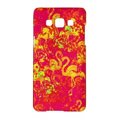 Flamingo Pattern Samsung Galaxy A5 Hardshell Case  by ValentinaDesign