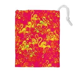 Flamingo Pattern Drawstring Pouches (extra Large) by ValentinaDesign
