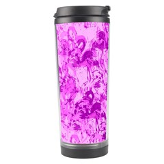 Flamingo Pattern Travel Tumbler by ValentinaDesign