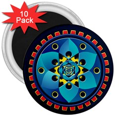 Abstract Mechanical Object 3  Magnets (10 Pack)  by linceazul