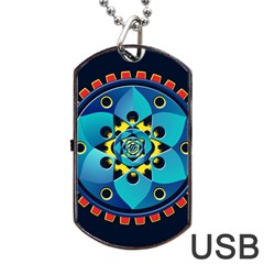 Abstract Mechanical Object Dog Tag Usb Flash (one Side)