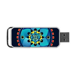 Abstract Mechanical Object Portable Usb Flash (two Sides) by linceazul