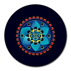 Abstract Mechanical Object Round Mousepads by linceazul