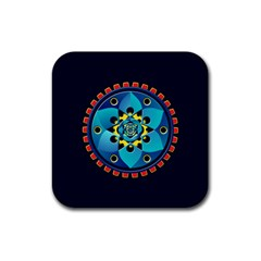 Abstract Mechanical Object Rubber Coaster (square)  by linceazul