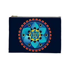 Abstract Mechanical Object Cosmetic Bag (large)