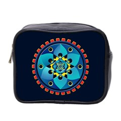 Abstract Mechanical Object Mini Toiletries Bag 2 Side