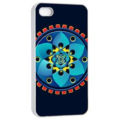 Abstract Mechanical Object Apple Iphone 4/4s Seamless Case (white)