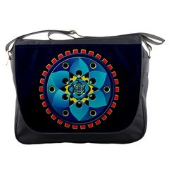 Abstract Mechanical Object Messenger Bags