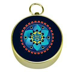 Abstract Mechanical Object Gold Compasses