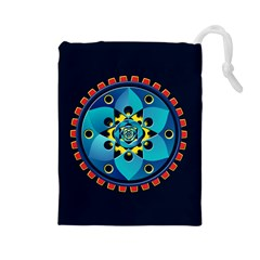 Abstract Mechanical Object Drawstring Pouches (large)