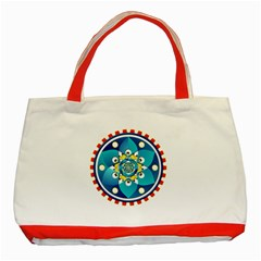 Abstract Mechanical Object Classic Tote Bag (red)