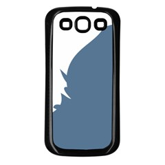 Blue White Hill Samsung Galaxy S3 Back Case (black) by Mariart