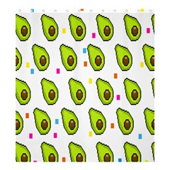 Avocado Seeds Green Fruit Plaid Shower Curtain 66  X 72  (large)  by Mariart