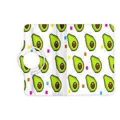 Avocado Seeds Green Fruit Plaid Kindle Fire Hd (2013) Flip 360 Case by Mariart