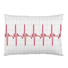 Cardiogram Vary Heart Rate Perform Line Red Plaid Wave Waves Chevron Pillow Case by Mariart