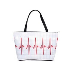Cardiogram Vary Heart Rate Perform Line Red Plaid Wave Waves Chevron Shoulder Handbags by Mariart